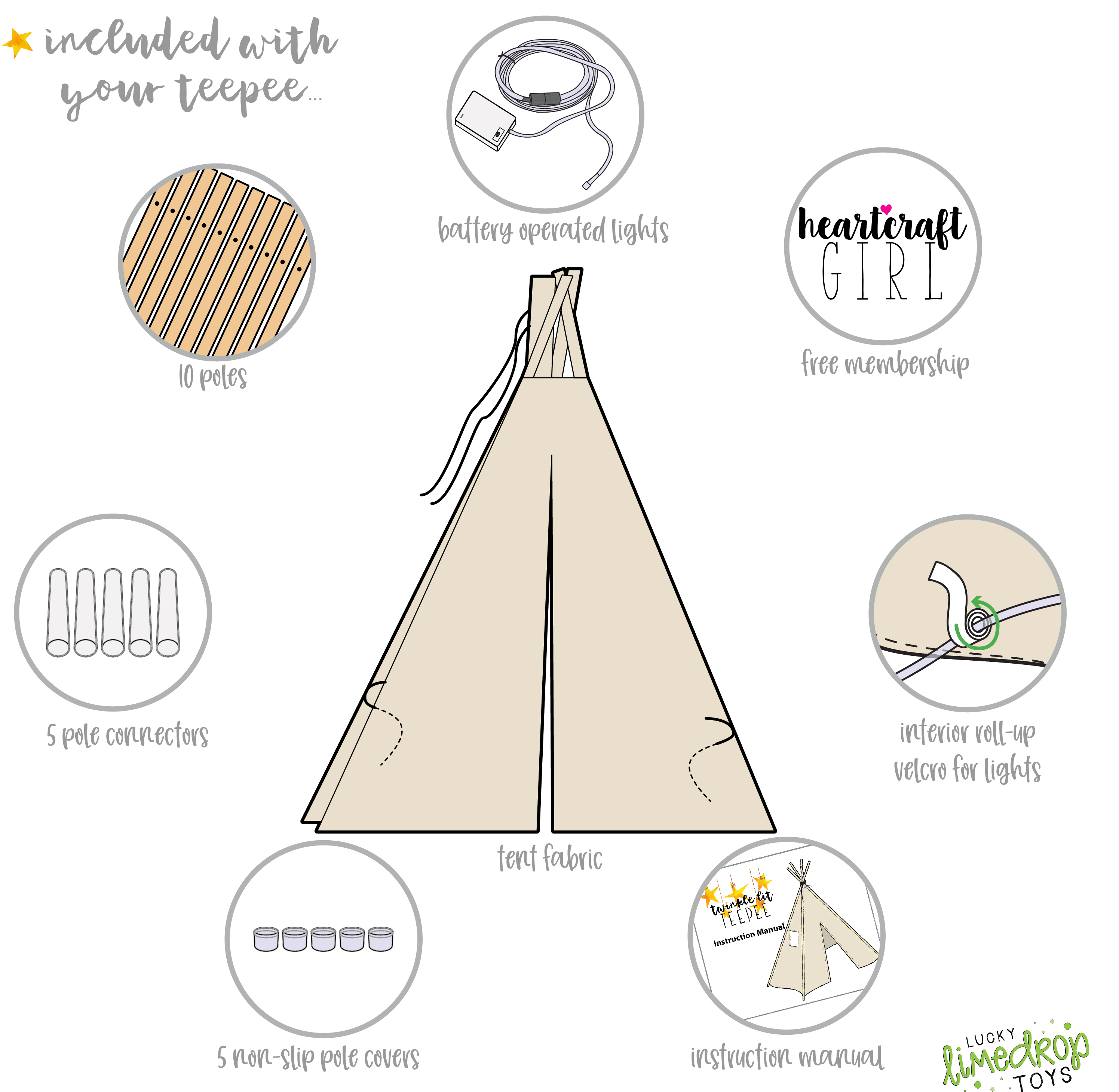 kids teepee tent for kids